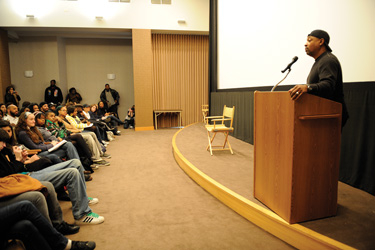 Hip-hop legend offers wisdom to students