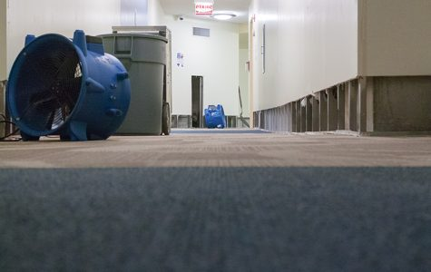 Carpets and wall trims are being replaced after the 8th floor of the University Center flooded on Jan. 8. The damage has displaced 16 students.