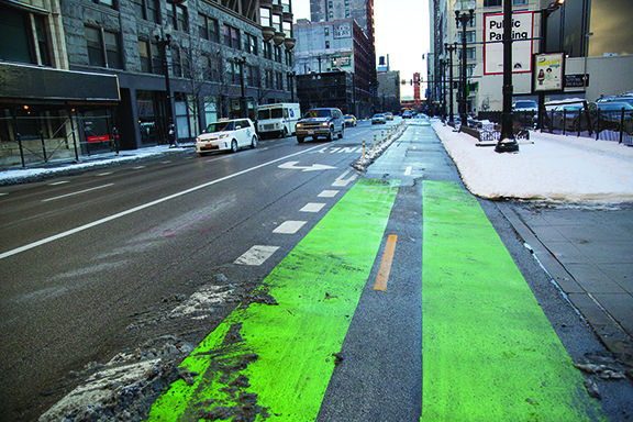 Dearborn Street bike lane