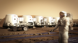 Mars One, a privately funded project, aims to establish the first independent human colony on the Red Planet by 2025. Before the chosen applicants arrive, an additional spacecraft will be sent to Mars with six cargo units that will be used as the individual living units.