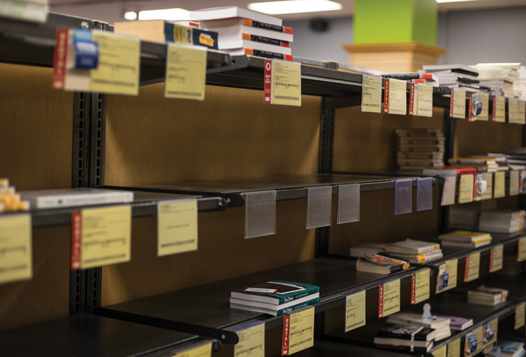 Columbia's bookstore, 624 S. Michigan Ave., had unusually bare shelves this semester. According to Ann Marie Pausha, the bookstore's manager, the shortage was due to late book requests from the faculty.