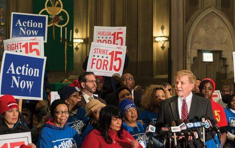 Bob Fioretti advocates for $15 minimum wage increase