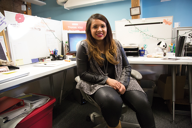 Senior marketing communication major Janet Rodriguez will use her admission into the Most Promising Minority program to share her vision of how Hispanics should be represented in media.