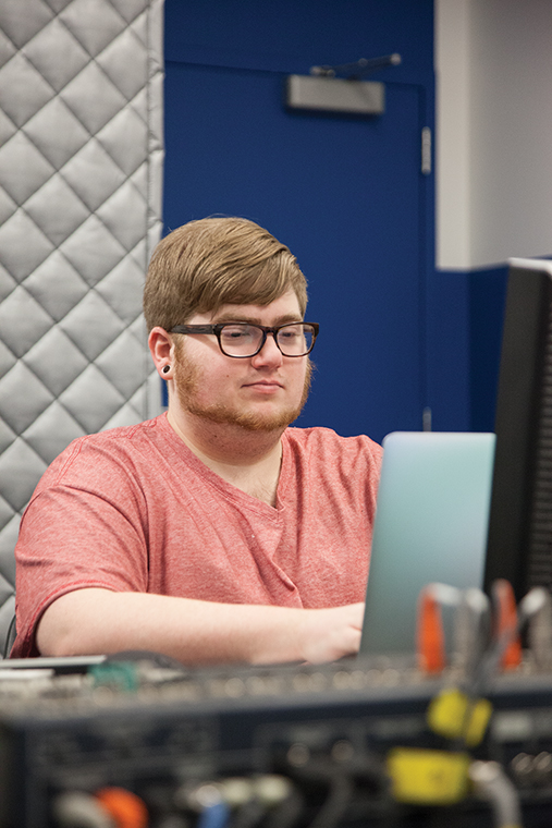 """Roommates and senior interactive arts & media majors Joseph Hogwood (pictured) and Dan Hernbrott created the video game """"Charlotte Seeker,"""" which was inspired by another game titled """"Binding of Isaac."""" It will be finished at the end of the year."""