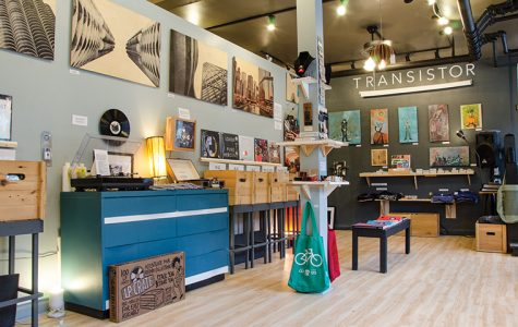 Transistor, 3441 N. Broadway, uses every inch of space to showcase local artists' work and expose customers to new forms of music, art and culture.
