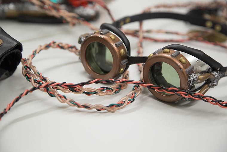 Steampunk goggles made by Tim Harrison