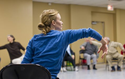 The Hubbard Street Dance Center in Chicago has been conducting adaptive dance classes since 2007 with the Parkinson's Project, which was designed to ease symptoms of the disease and provide an opportunity for students with disabilities to dance. Above, Parkinson's Project founder Sarah Cullen Fuller instructs a class of elderly students.