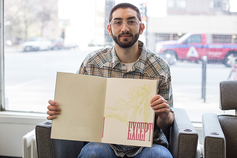 Levi Sherman, an interdisciplinary book & paper arts graduate student, is currently creating a series of books about Colombian coffee after traveling to the country for research in December.