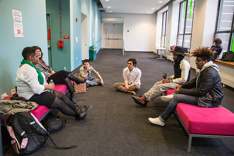 In response to the college's updated sexual assault policy, 12 students gathered April 1 in the second floor lobby of the 916 S. Wabash Building to discuss forming an official student committee that would work directly with the administration to educate students about the updated policy and address concerns.