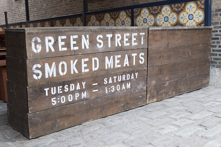 Green+Street+Smoked+Meats%2C+112+N.+Green+St.%2C+brings+a+fresh+take+on+casual+barbecue+to+Chicago+with+its+industrial+decor+and+minimalist+style.+Guests+can+try+fanciful+cocktails%2C+such+as+the+Sweet+Tea+Bourbon.