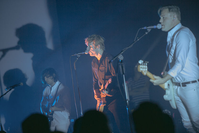 Spoon returned to Chicago for the first time in four years to play at the historic Chicago Theatre, 175 N. State St.