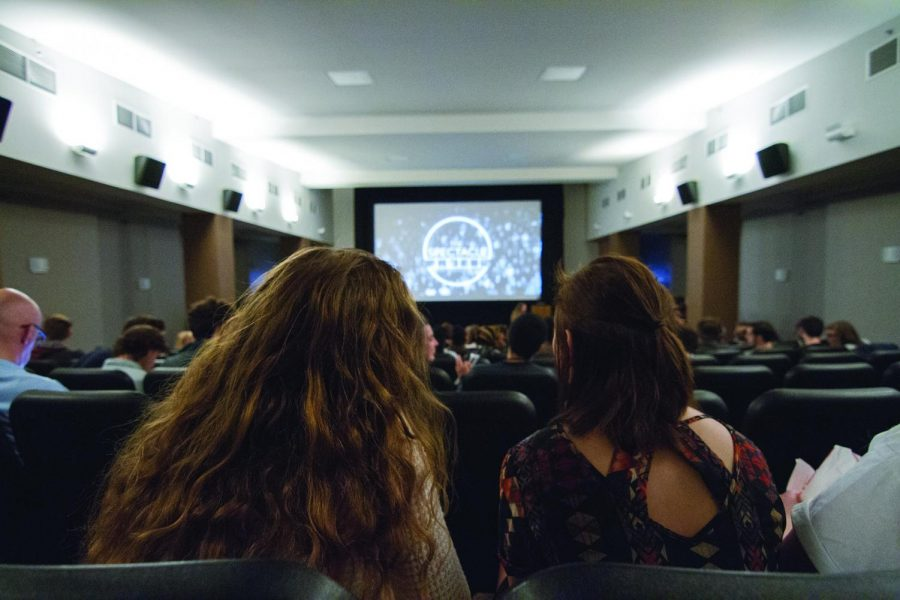 Students attend the first Spectacle event part of a series of screenings of student films, on Sept. 23 at the Conaway Center, 1104 S. Wabash Ave. The Spectacle aims to feature students' work and help students to network with other filmmakers.