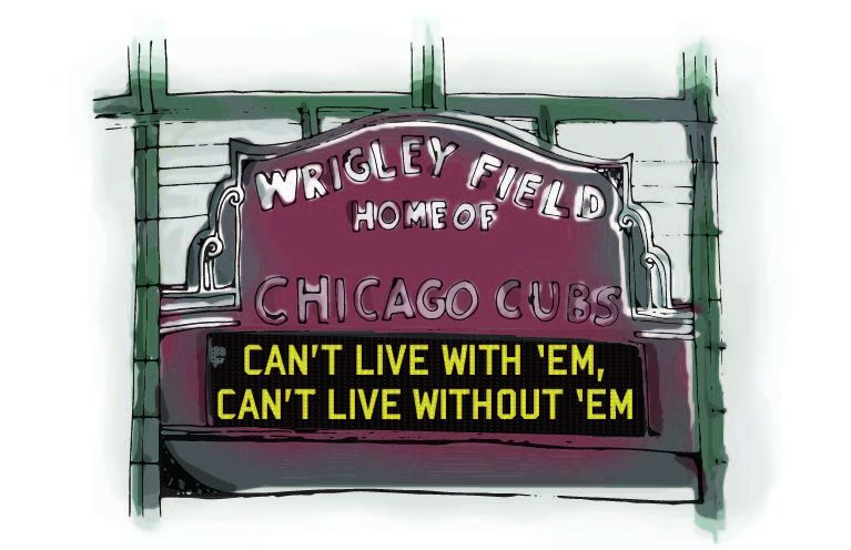 Wrigley Field, Home of Chicago Cubs.