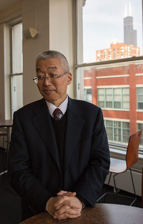 President Kwang-Wu Kim spoke to faculty and staff on Oct. 24 at Film Row Cinema in 1104 S. Wabash Ave. Building to address the six topic strategic plan he hopes to implement during the 2015–2016 academic year.