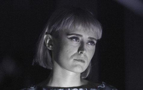 Lucius co-lead singer, Holly Laessig, gazes out into the audience during Lucius' performance at the Metro on Oct. 8