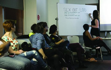 "Students attend a ""Sex Out Loud"" forum hosted by the college's group of sexuality scholars, the Sex Nerds. These meetings take place every Wednesday from 6:30–8 p.m. in Room 903 of the 618 S. Michigan Ave. Building. Topics, events and excursions will be posted on the event's Facebook page."