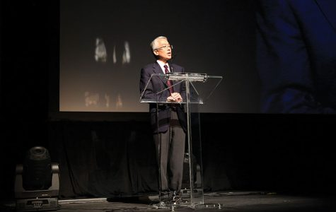 President Kwang-Wu Kim spoke about the college's long-standing partnership with the Chicago International Film Festival during the opening ceremony on Oct. 9.