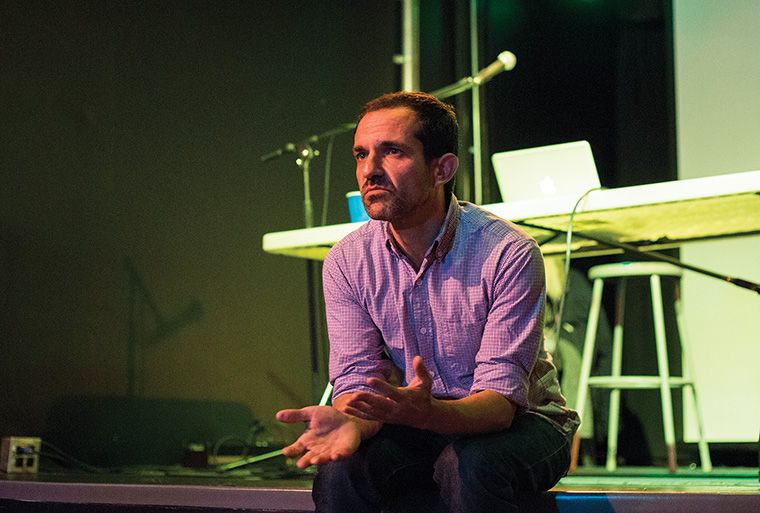 Eyal Rob, a DJ and university professor from Tel Aviv, spoke to students Nov. 11 about his work, the club culture of Israel and the unifying nature of music.