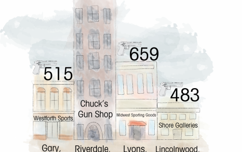 The Chicago Police Department recovered firearms sold from the above gun stores between 2009-2013, making up nearly 20 percent of the illegal firearms used in crimes in Chicago.