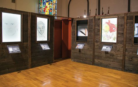 """""""Forbidden Art"""" is a new exhibit that shows the hardships and terrors of life in concentration camps during World War II through the eyes of prisoners who created the art."""