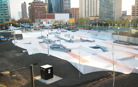 The $2.7 million skate park that extends in Grant Park from the 11th Street pedestrian bridge to Roosevelt Road will be completed in November and will open in December.