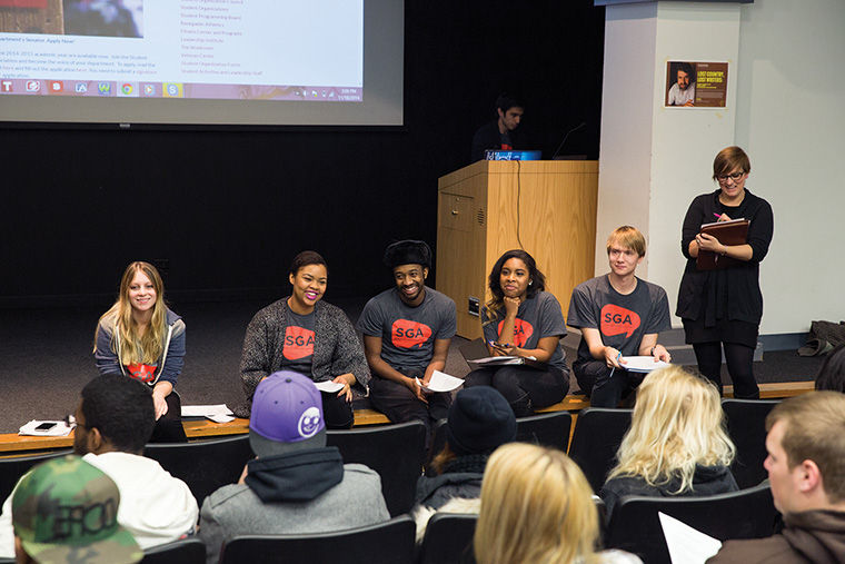 "Members of the Student Government Association held an open discussion with students about campus concerns and issues at its annual ""Let's Talk"" forum."
