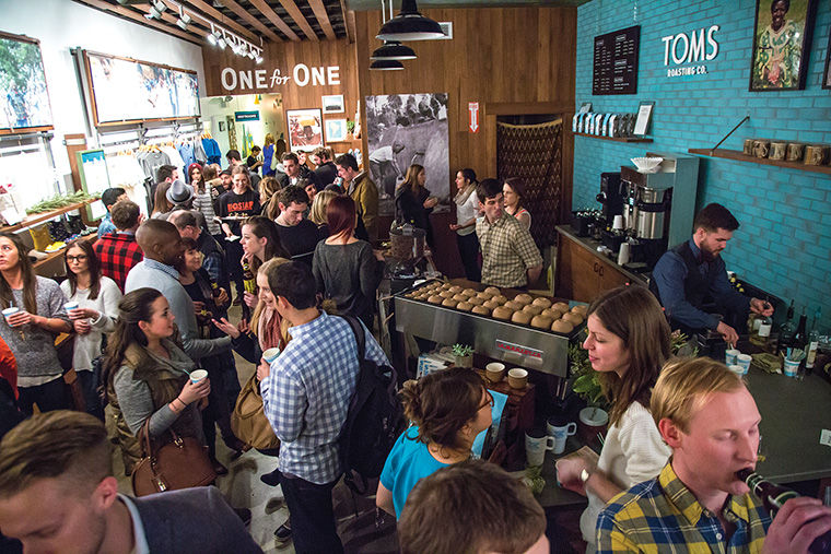 TOMS Chicago, 1611 N. Damen Ave., is the shoe, eyewear and coffee roasting company's fourth U.S. retail location.