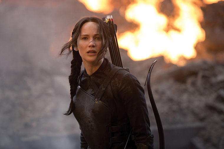 Jennifer Lawrence reprises her role as Katniss Everdeen in the latest installment of