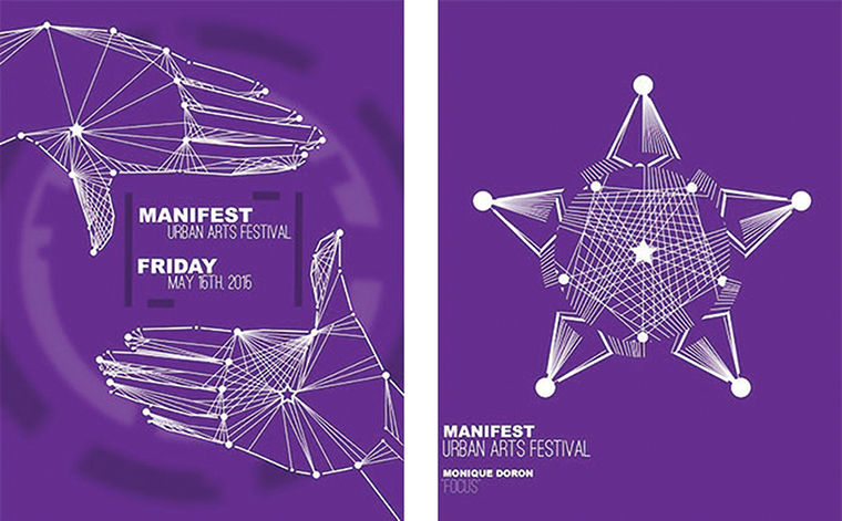 Monique Doron's winning design and the brand of Manifest 2015.