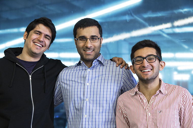 Georama, an interactive virtual travel company, is located at 222 W. Merchandise Mart Plaza. Left to right: Nihal Advani, CEO and founder, Herrman Taraporewala, marketing manager and Aaqib Usman, interactive producer.