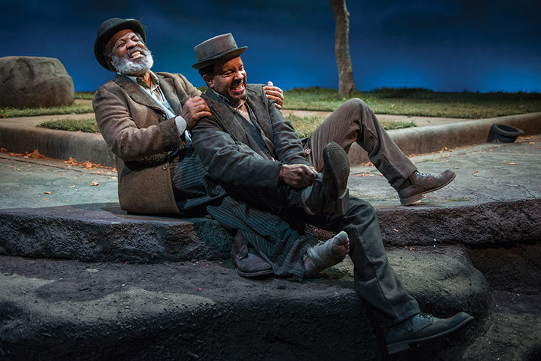 Allen+Gilmore+and+Alfred+H.+Wilson+play+Vladimir+and+Estragon+in+Ron+OJ+Parson%27s+rendition+of+Samuel+Beckett%27s+%22Waiting+for+Godot%22+at+the+Court+Theatre%2C+5545+S.+Ellis+Ave.