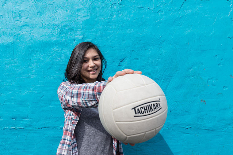 Siana Maradol, a junior advertising major, is one of the Renegades volleyball team's four co-captains. The team's season begins on April 1.