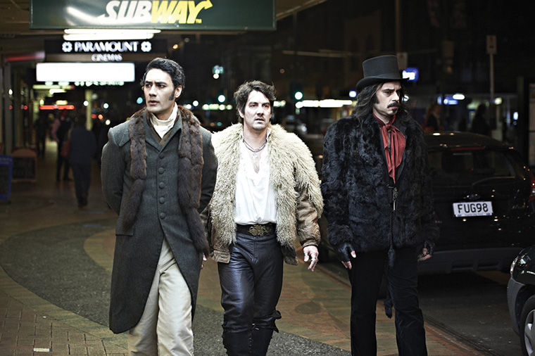 "Taika Waititi, Jonathan Brugh and one half of the comedy duo ""Flight of the Conchords"" Jemaine Clement star as vampires learning to deal with the mundane modern world in the vampire film ""What We Do in the Shadows,"" which was released in the U.S. after a crowdfunding campaign."