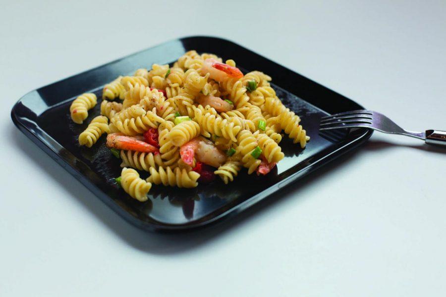 Vegetable Shrimp Pasta