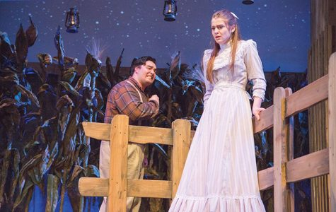 "Kyle Ryan, a freshman theatre major who plays Jud Fry, and Paige Daigle, a senior theatre major who plays Laurey Williams, both performed in the college's production of ""Oklahoma!"" that runs through March 21 at the Getz Theatre, 72 E. 11th St."