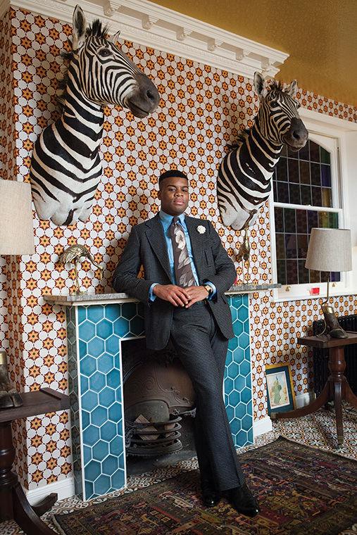 Barima Owusu-Nyantekyi photographed by Rose Callahan in London on March 24, 2013