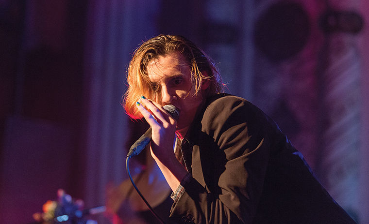 Foxygen lead singer Sam France wowed the crowd at the Metro during the band's farewell tour show on April 9.