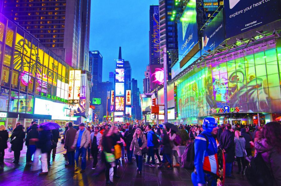 Pedestrian traffic is constantly monitored by Springboard pedestrian counters in New York City's Times Square. The traffic-monitoring devices are set to be installed in Chicago's Loop in June, according to Diane Wehrle, Springboard's marketing and insights director.