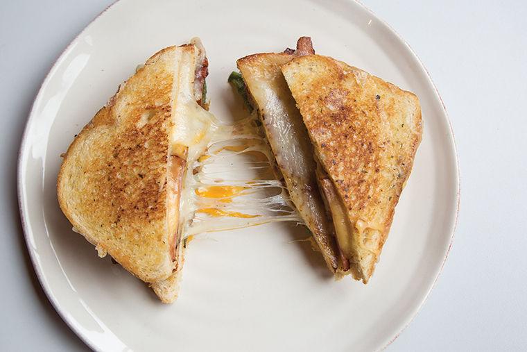 Triple-Decker Hawaiian Grilled Cheese