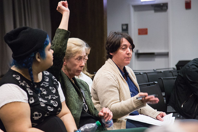 Diana Vallera and members of the SaveColumbia coalition met April 14 to finalize a list of demands to present to the administration at the final Strategic Planning Steering Committee meeting on April 20.