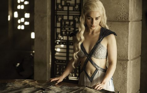 In this image released by HBO, Daenerys Targaryen, portrayed by Emilia Clarke, appears in a scene from season four of