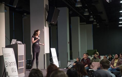 Game developer Brianna Wu spoke to the college on April 8 about sexism in the gaming industry.