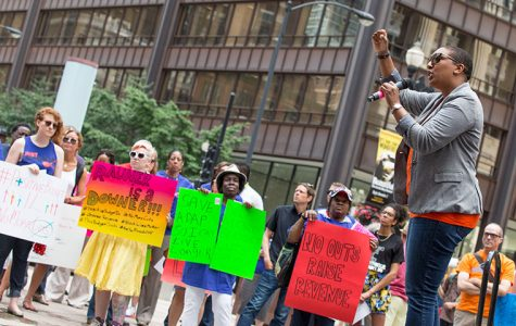 AIDS foundation members rally for revised state budget