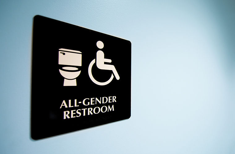 There are currently 18 buildings on campus with all-gender restrooms, according the college's website