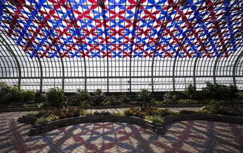 Luftwerk Solarise: Florescence (transparent acrylic, suspension wire) at the Garfield Park Conservatory.