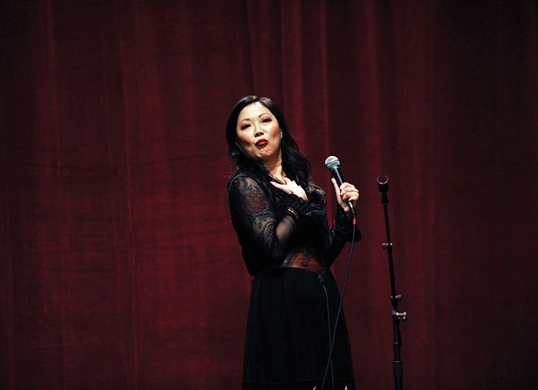 "Margaret Cho shares personal stories and confronts social issues in her comedy special ""psyCHO."""
