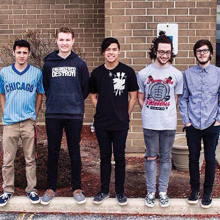 Belmont (from left to right): Joey Legittino (bass/vocals), Brian Lada (drums), Matt Fusi (lead guitar), Sam Patt (rhythm guitar) and Taz Johnson (vocals)