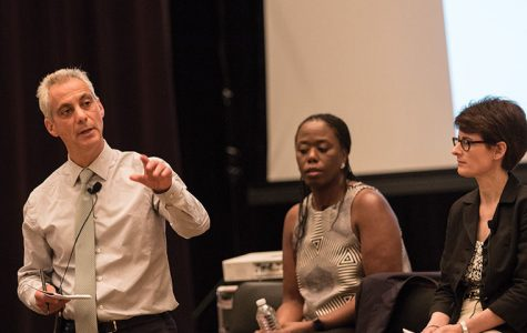 Mayor Rahm Emanuel listened to residents' concerns over the city's budget during town hall meetings the week of Aug. 31.