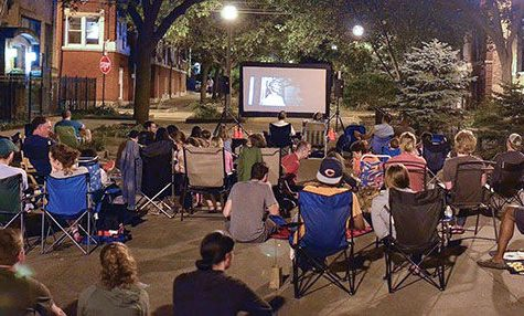 Residents attended a movie night put on by the Sunnyside Mall Committee over the summer.