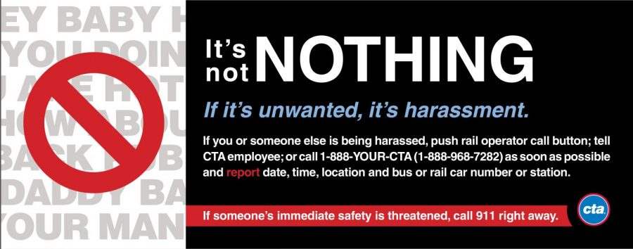 A CTA ad promoting awareness for harassment.